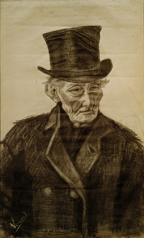 """Vincent van Gogh """"Alter Mann mit Zylinder"""" 60 x 36 cm 1"""