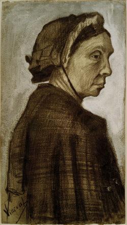 """Vincent van Gogh """"Kopf einer Frau"""" 50,1 x 28 cm"""