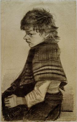 """Vincent van Gogh """"Maedchen mit Umschlagtuch"""" 50,1 x 28 cm"""