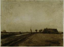 """Vincent van Gogh """"Landschaft in Drenthe"""" 31,4 x 42,1 cm"""