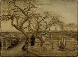 """Vincent van Gogh """"Garten im Winter"""" 40,3 x 54,6 cm"""