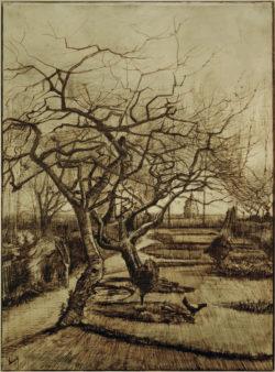 """Vincent van Gogh """"Der Garten des Pfarrhauses in Nuenen"""", 51,5 x 38 cm"""