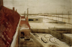 "Vincent van Gogh ""Blick aus dem Atelier des Kuenstlers in Den Haag"" 40 x 60 cm"