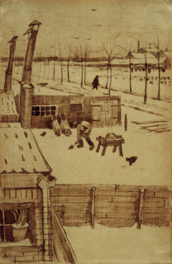 "Vincent van Gogh ""Blick aus dem Atelier des Kuenstlers in Den Haag"" 19,7 x 12,5 cm"