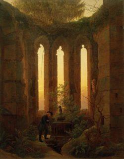"Caspar David Friedrich ""Huttens Grab""  73 x 93 cm"