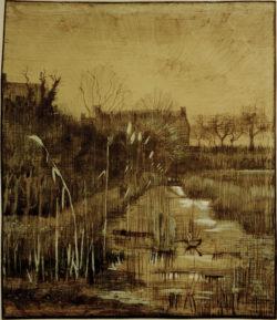 "Vincent van Gogh ""Graben"" 42,3 x 34,5 cm"