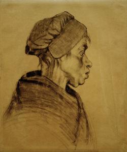 """Vincent van Gogh """"Kopf einer Frau"""" 40,2 x 33,3 cm"""