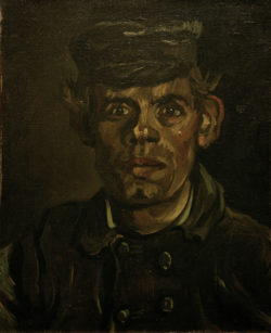 """Vincent van Gogh """"Portraet eines jungen Bauern mit Schirmkappe"""" 39 x 30,5 cm"""