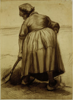 """Vincent van Gogh """"Baeuerin beim Graben"""" 55,7 x 41 cm"""