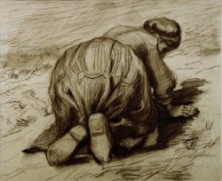 "Vincent van Gogh ""Kniende Baeuerin"" 43 x 52 cm"