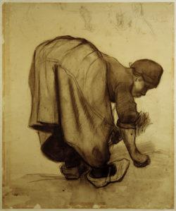 """Vincent van Gogh """"Baeuerin beim aehrenlesen"""" 52,2 x 43,2 cm"""