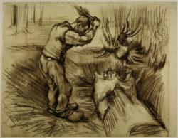 """Vincent van Gogh """"Holzfaeller"""" 45 x 55,5 cm"""