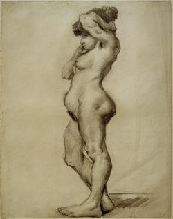 """Vincent van Gogh """"Stehender weiblicher Akt"""", 50,4 x 39,2 cm"""