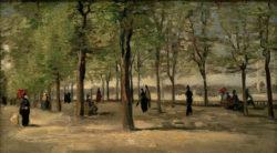 "Vincent van Gogh ""Promenade im Jardin du Luxembourg"", 27,1 x 46,1 cm"