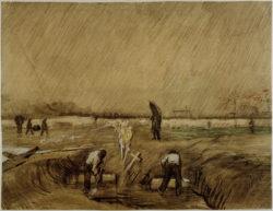 """Vincent van Gogh """"Friedhof im Regen"""" 36,9 x 48,3 cm"""