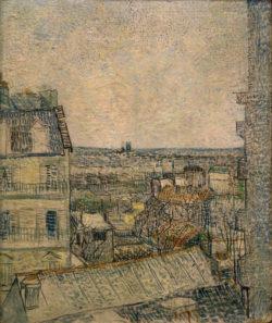 """Vincent van Gogh """"Blick aus dem Fenster der Wohnung in der Rue Lepic"""" 46 x 38,2 cm"""