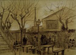 """Vincent van Gogh """"Guinguette"""" 38,7 x 52,5 cm"""