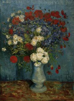 """Vincent van Gogh """"Stillleben: Vase mit Kornblumen und Mohnblumen"""" 80 x 67 cm"""