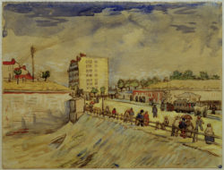 "Vincent van Gogh ""Pariser Stadttor"" 24,1 x 31,6 cm"