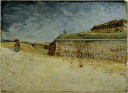"""Vincent van Gogh """"Die Festungswaelle von Paris"""", 39,5 x 53,5 cm"""