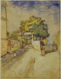 """Vincent van Gogh """"Eingang zum Moulin de la Galette"""", 31,6 x 24 cm"""
