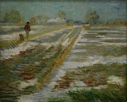 """Vincent van Gogh """"Landschaft mit Schnee"""" 38,2 x 46,2 cm"""