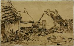 """Vincent van Gogh """"Haeuser in Les Saintes-Maries-de-la-Mer"""" 30,2 x 47,4 cm"""
