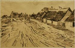 """Vincent van Gogh """"Sonnenbeschienene Haeuser in Les Saintes-Maries-de-la-Mer"""" 30,5 x 47,2 cm"""