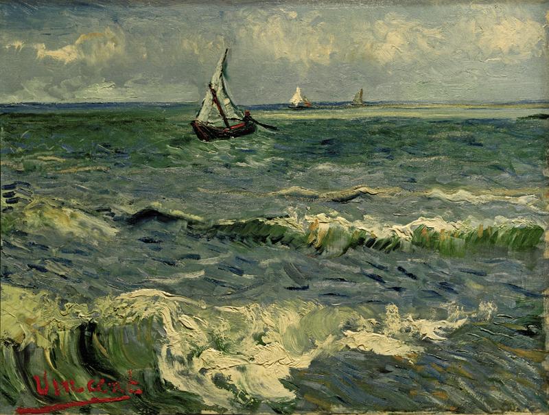 """Vincent van Gogh """"Boote auf See 51 x 64 cm"""