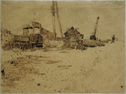 """Vincent van Gogh """"Lagergelaende der Eisenbahn"""" 24,2 x 32 cm"""