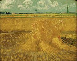 "Vincent van Gogh ""Weizenfeld mit Kornbuendel"" 55,2 x 66,7 cm"