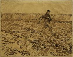 "Vincent van Gogh ""Der Saemann 24,4 x 32 cm"