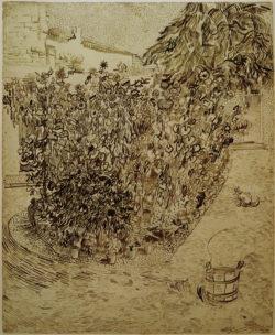 """Vincent van Gogh """"Garten einer Badeanstalt"""" 60,7 x 49,2 cm"""
