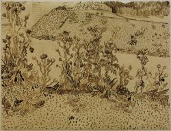 "Vincent van Gogh ""Disteln am Straßenrand"" 24,4 x 32 cm"