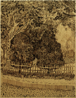 "Vincent van Gogh ""Park mit Zaun"" 31,9 x 24,4 cm"