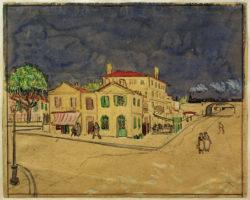 "Vincent van Gogh ""Das gelbe Haus"" (Vincents Haus), 25,7 x 32 cm"