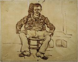 "Vincent van Gogh ""Sitzender Zuave"" 49,3 x 61,2 cm"