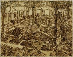 """Vincent van Gogh """"Garten des Hospitals"""" 46,6 x 59,9 cm"""