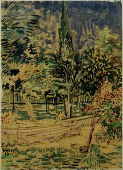 """Vincent van Gogh """"Stufen im Garten der Heilanstalt"""" 63,1 x 45,6 cm"""