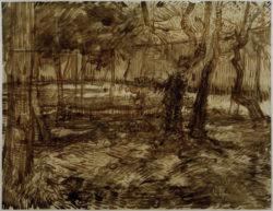 """Vincent van Gogh """"Ecke im Garten der Heilanstalt"""" 46,2 x 60 cm"""