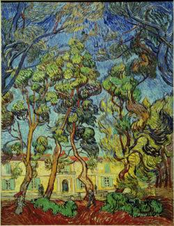 """Vincent van Gogh """"Heilanstalt in Saint-Rémy"""" (Heilanstalt Saint-Paul-de-Mausole in Saint-Rémy-de-Provence) 90,2 x 73,3 cm"""