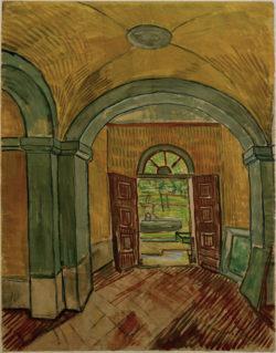 """Vincent van Gogh """"Vestibuel in der Heilanstalt"""" (Heilanstalt Saint-Paul-de-Mausole in Saint-Rémy-de-Provence) 61,6 x 47,1 cm"""