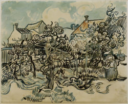 """Vincent van Gogh """"Alter Weingarten mit Baeuerin"""", 44,3 x 54 cm"""