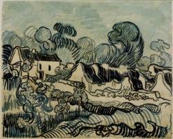 "Vincent van Gogh ""Landschaft mit Haeusern"" 44 x 54,4 cm"