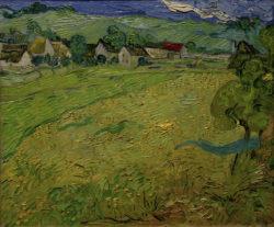 """Vincent van Gogh """"Blick auf Les Vessenots bei Auvers"""", 55 x 65 cm"""