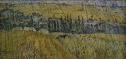 """Vincent van Gogh """"Auvers bei Regen"""" 50,3 x 100,2 cm"""
