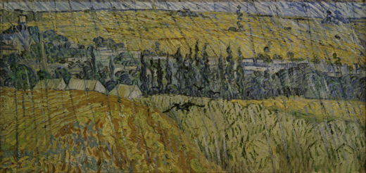 """Vincent van Gogh """"Auvers bei Regen"""" 50,3 x 100,2 cm 1"""