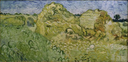 "Vincent van Gogh ""Feld mit Heuschobern"", 50 x 100 cm"