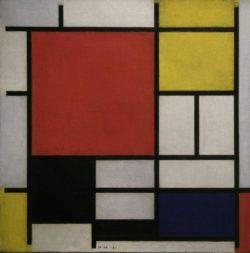 """Piet Mondrian """"Komposition mit großer roter Fläche"""" 859 x 59 cm"""