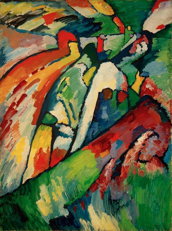 "Wassily Kandinsky ""Improvisation Sturm"" 97 x 131 cm"
